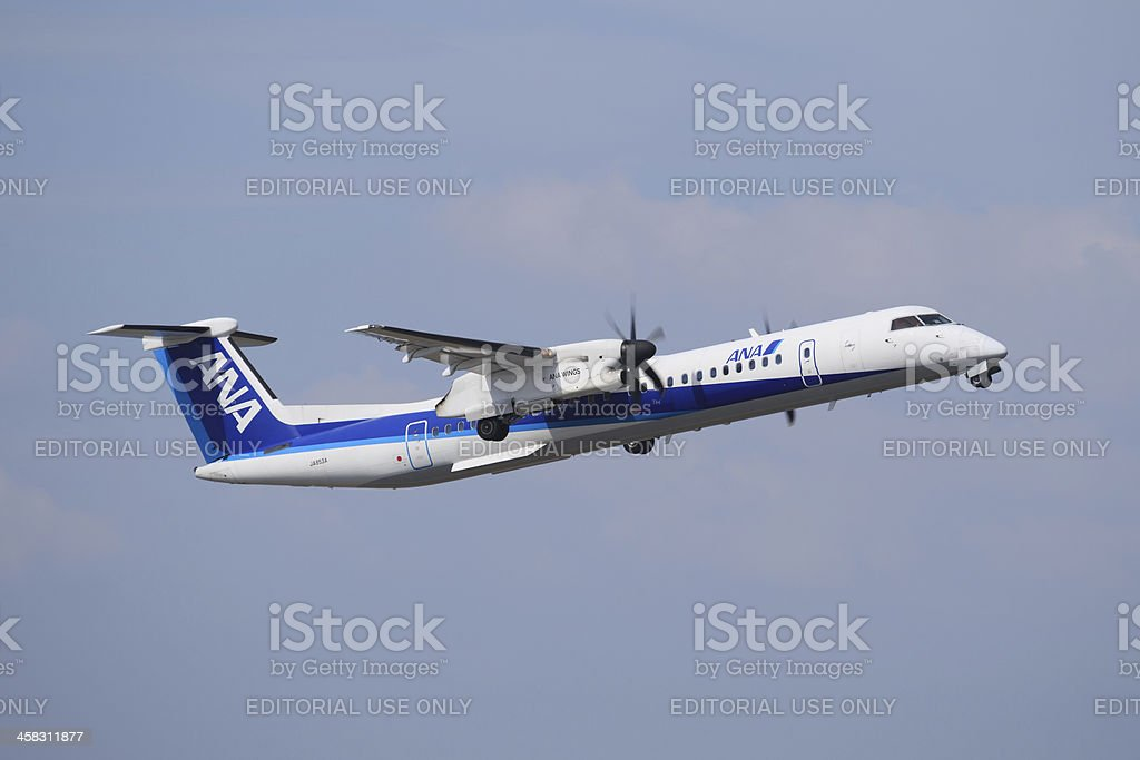 All Nippon Airways Bombardier Dash 8 Q400 stock photo