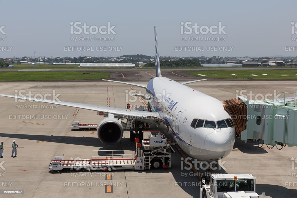 All Nippon Airways in Japan stock photo