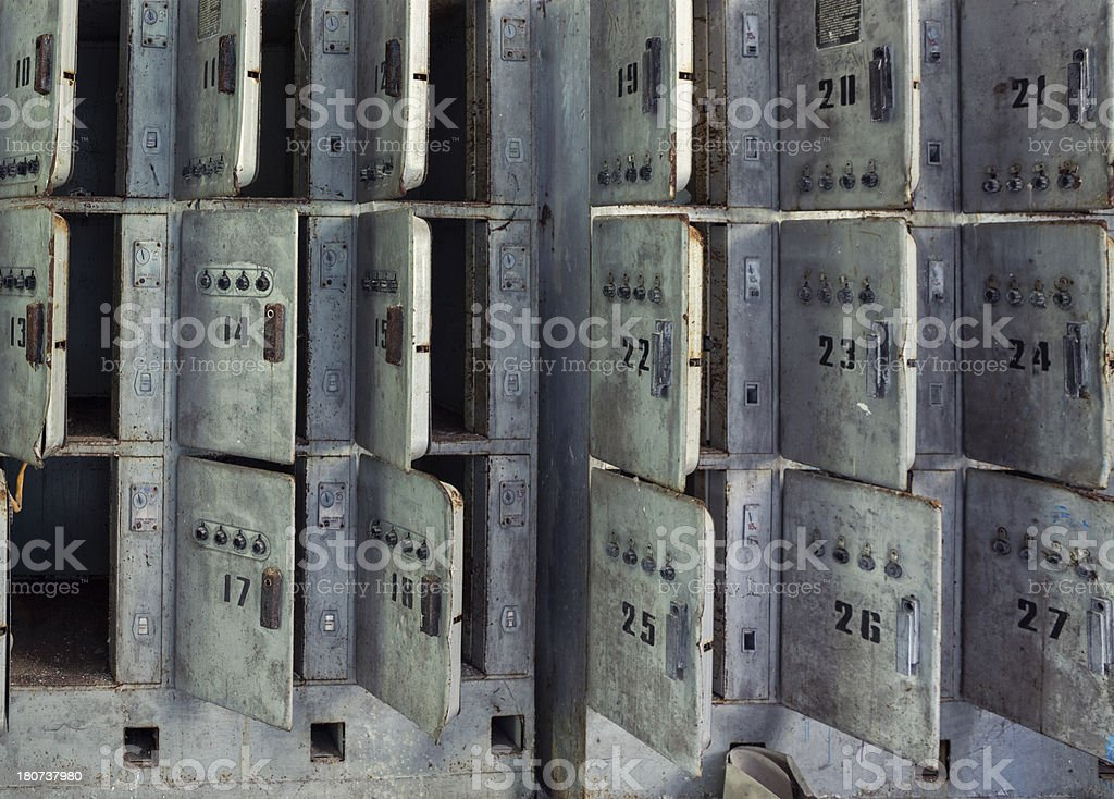 All Open Safe Deposit Boxes royalty-free stock photo