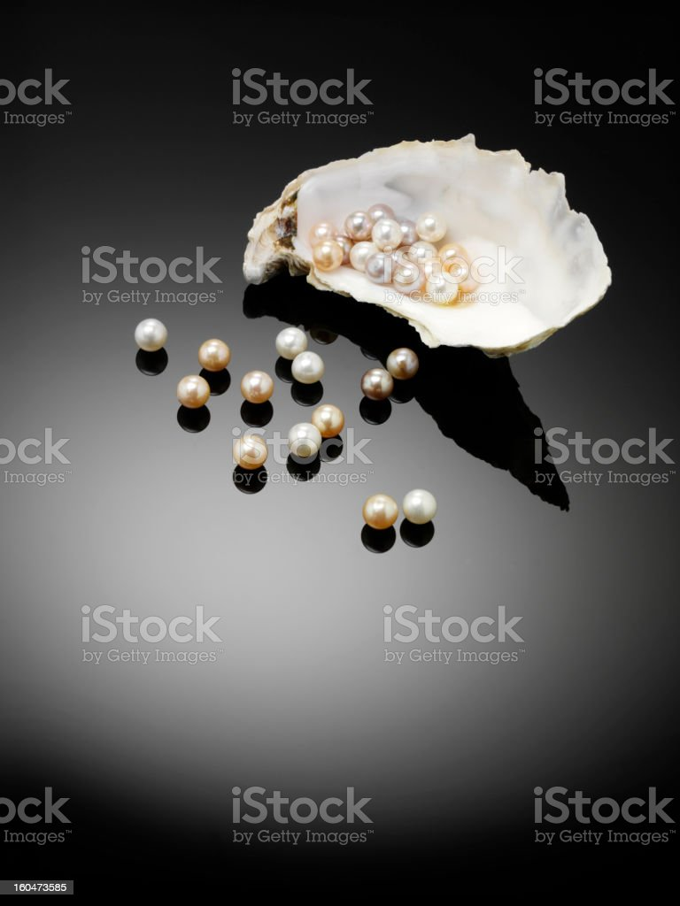 All Organic Pearls and Oyster stock photo