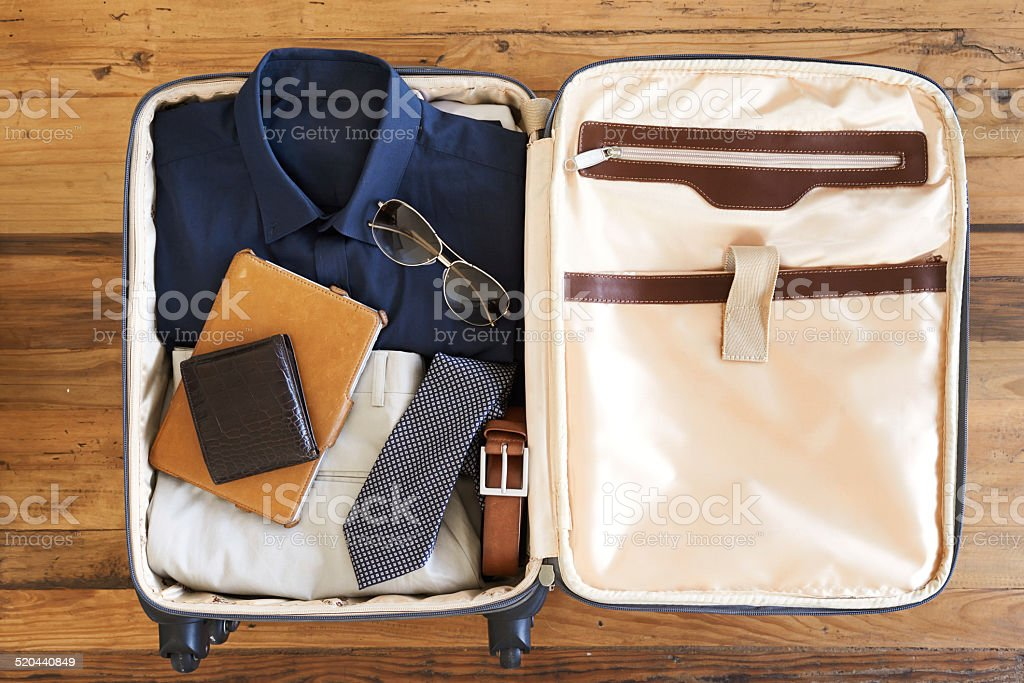 All packed and ready to go stock photo