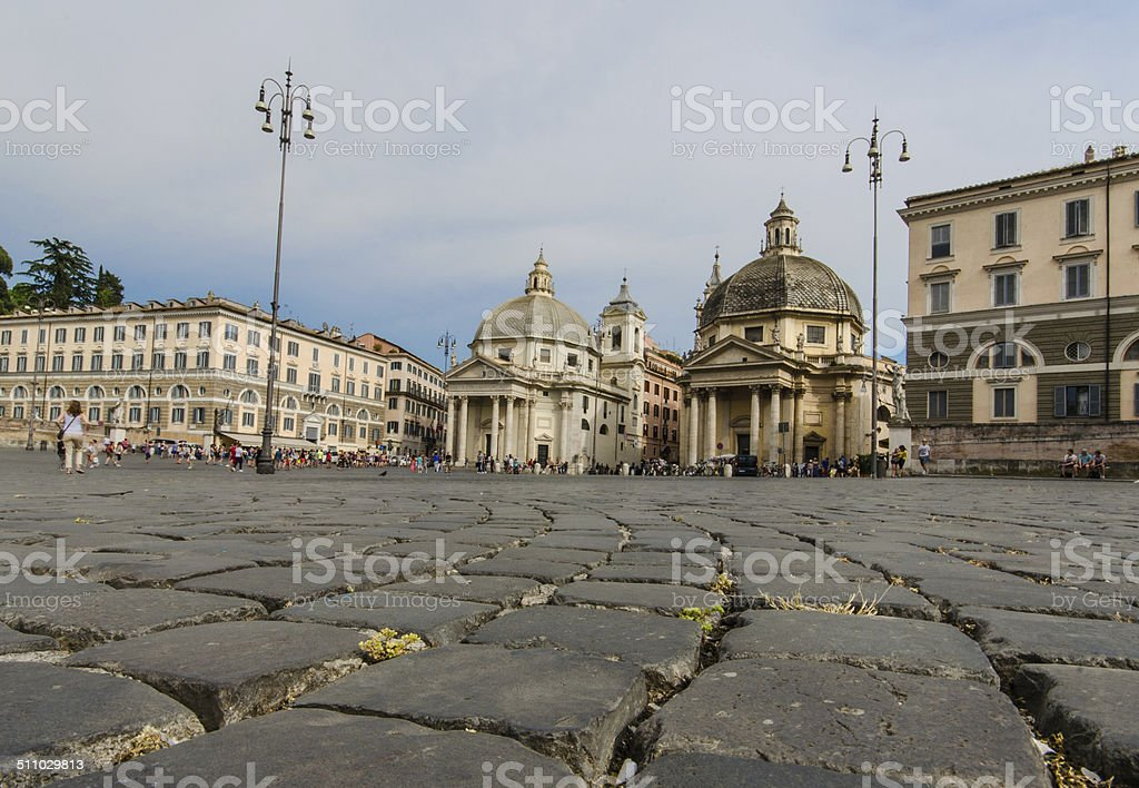 All roads lead to Rome stock photo