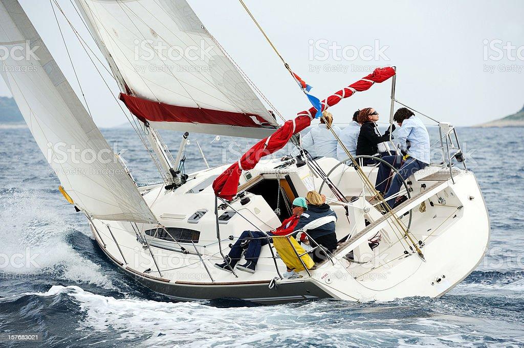 All sails set royalty-free stock photo