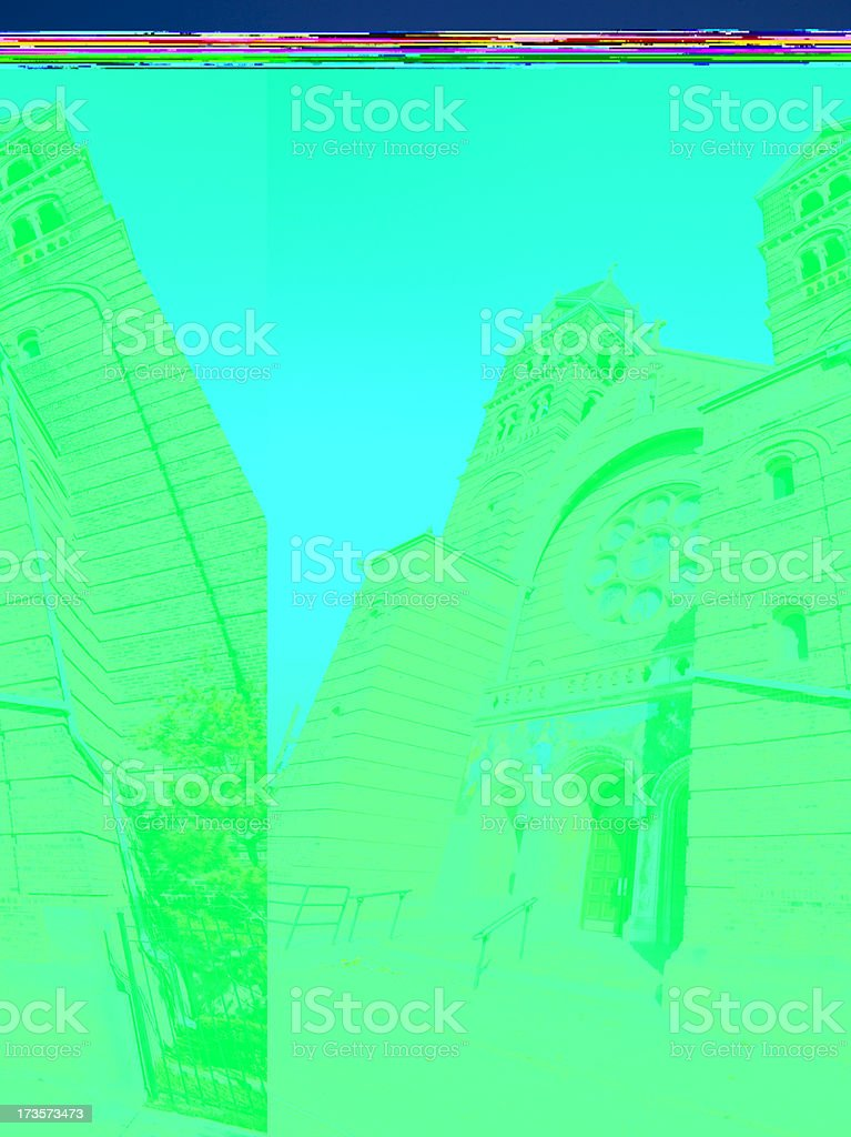 All Saints Saint Anthony Church in Chicago stock photo