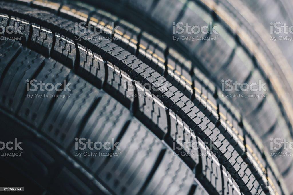 All season car tires stock photo