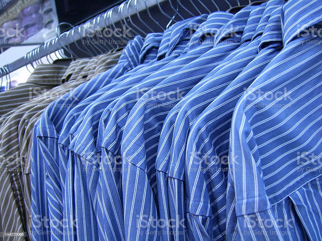 All shirts in a row royalty-free stock photo