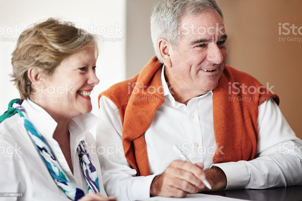 All smiles as they check in - Vacations royalty-free stock photo