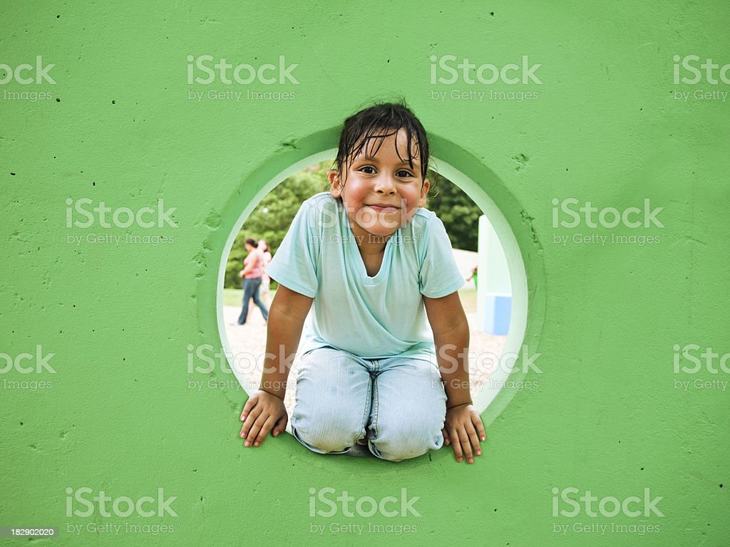 all smiles at the playground royalty-free stock photo