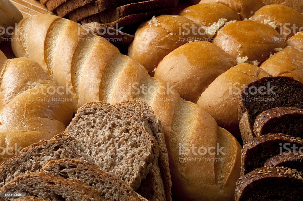 All sorts of bread stock photo