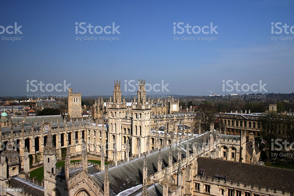 All Souls College Oxford University 2 stock photo