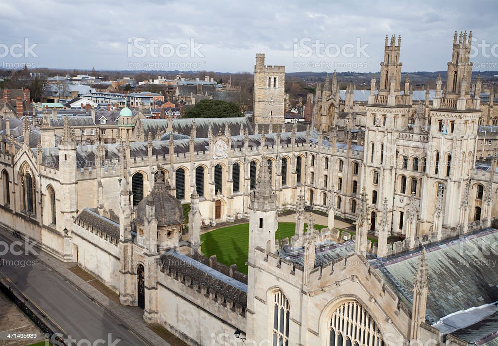 All Soul's College, Oxford University royalty-free stock photo