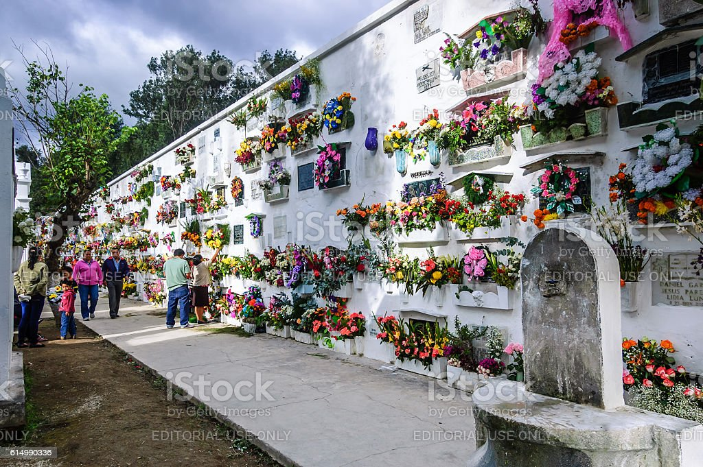 All Souls' Day in cemetery, Antigua, Guatemala stock photo