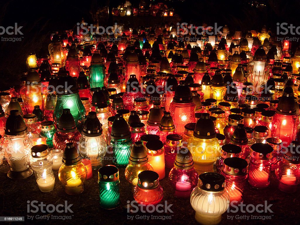 All souls day stock photo