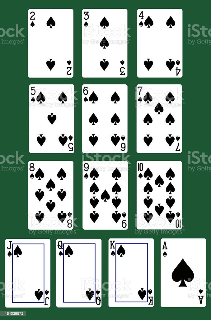 all spade cards stock photo