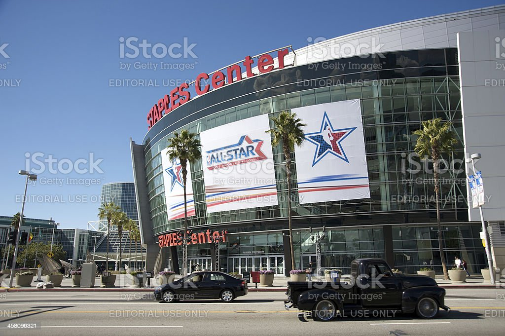 NBA All Star Game 2011 at the Staples Center royalty-free stock photo