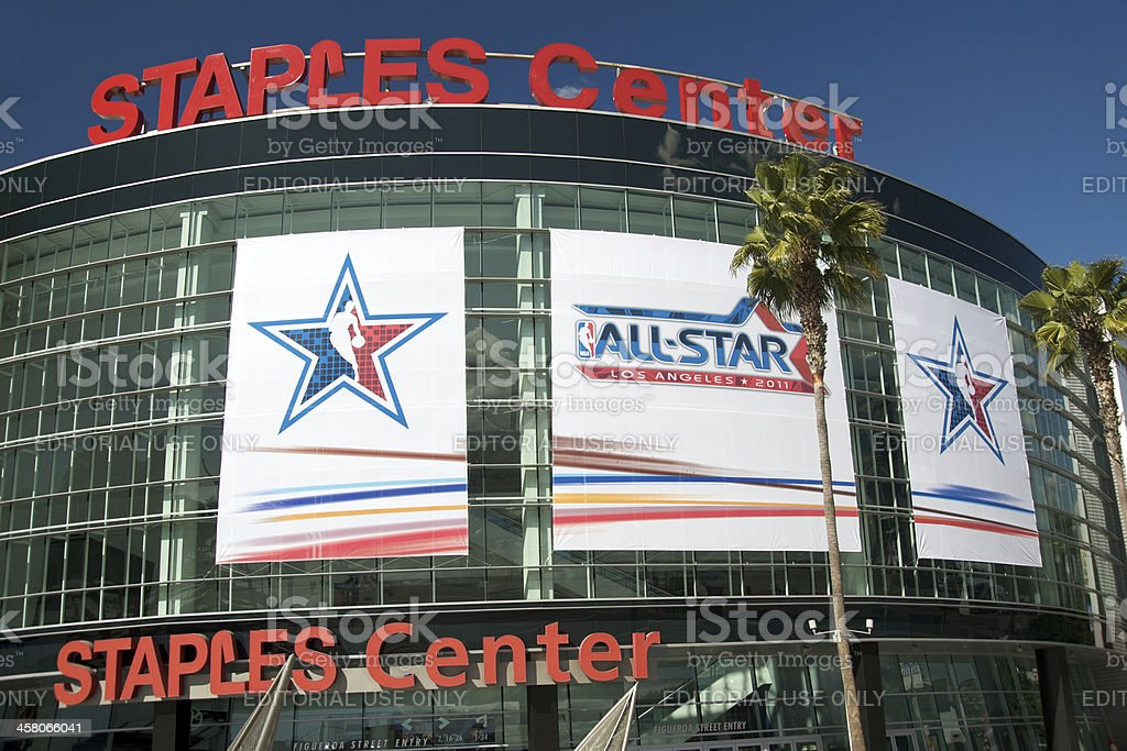 NBA All Star Game at the Staples Center royalty-free stock photo
