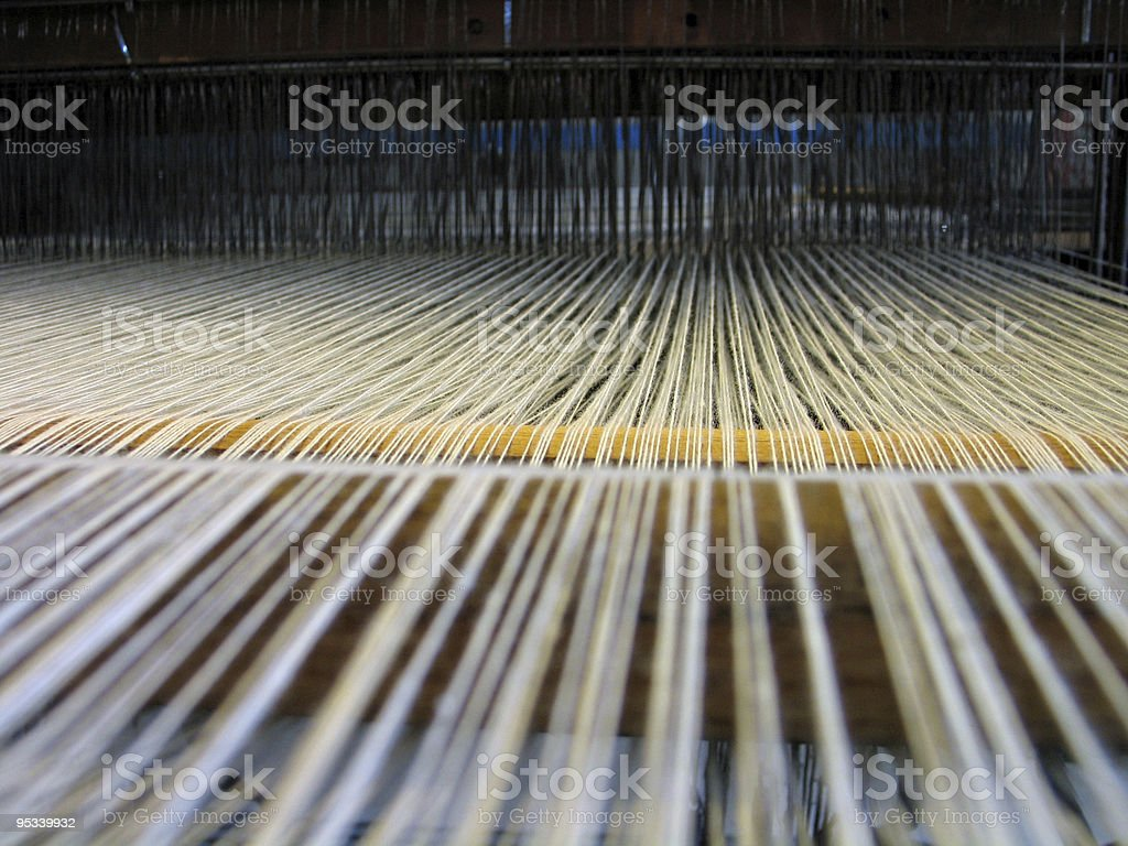 All strings attached - Textile abstract stock photo