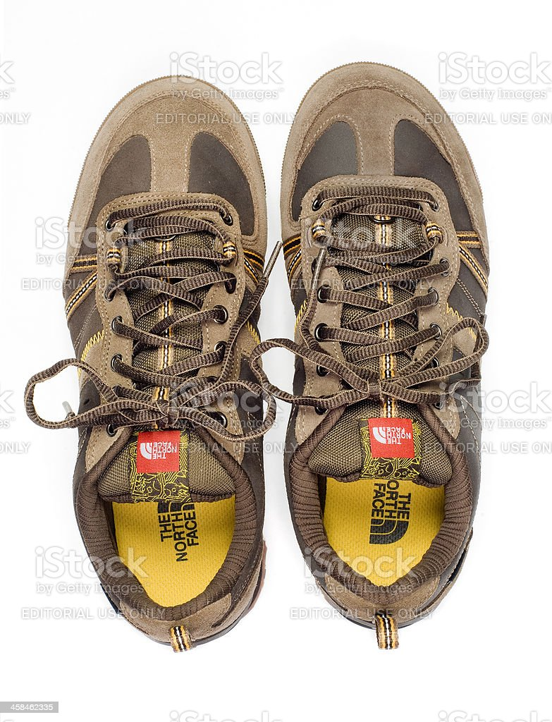 All Terrain North Face Shoes stock photo