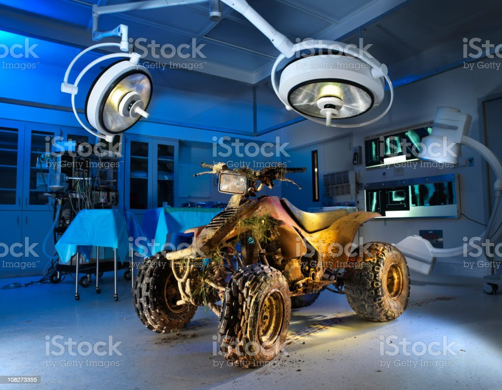 ATV, All Terrain Vehicle in Operating Room stock photo