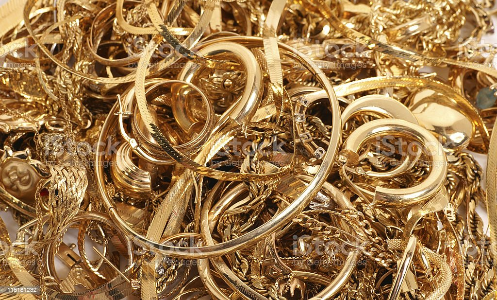 All that glitters is gold stock photo