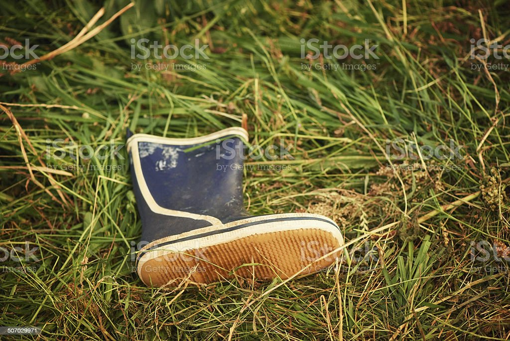 All that's left behind.. stock photo