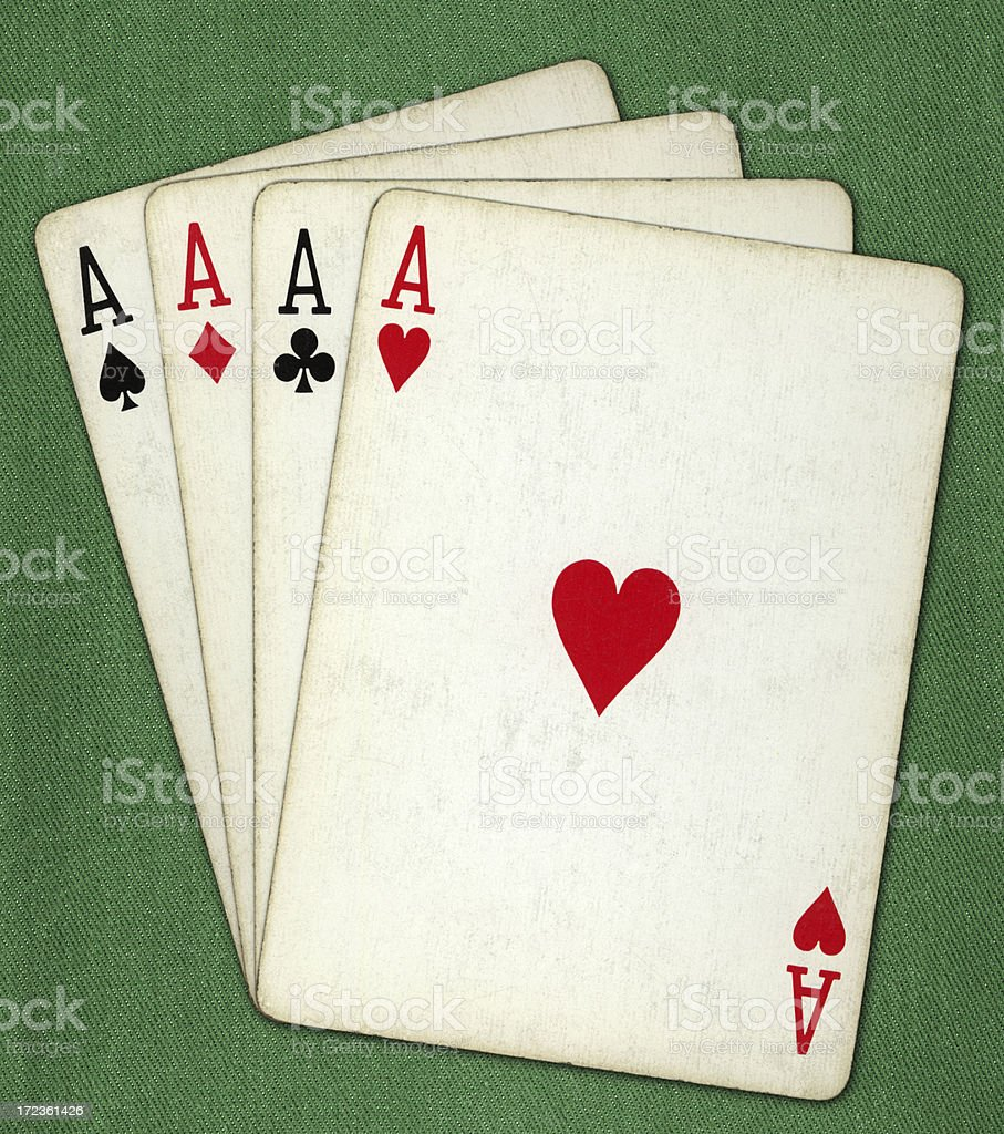 all the aces royalty-free stock photo
