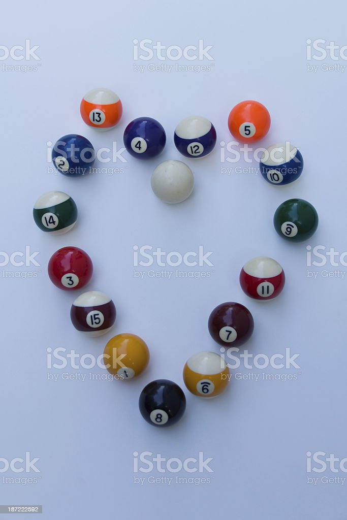 all the balls as heart royalty-free stock photo