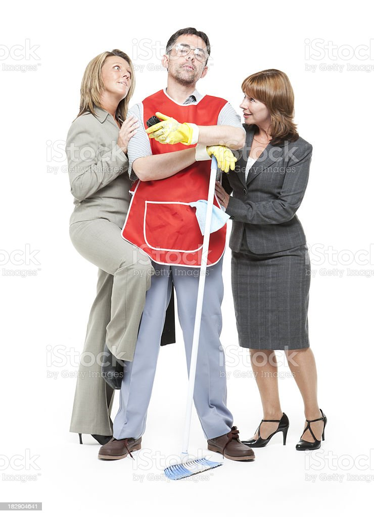 all the ladies love a cleaner stock photo