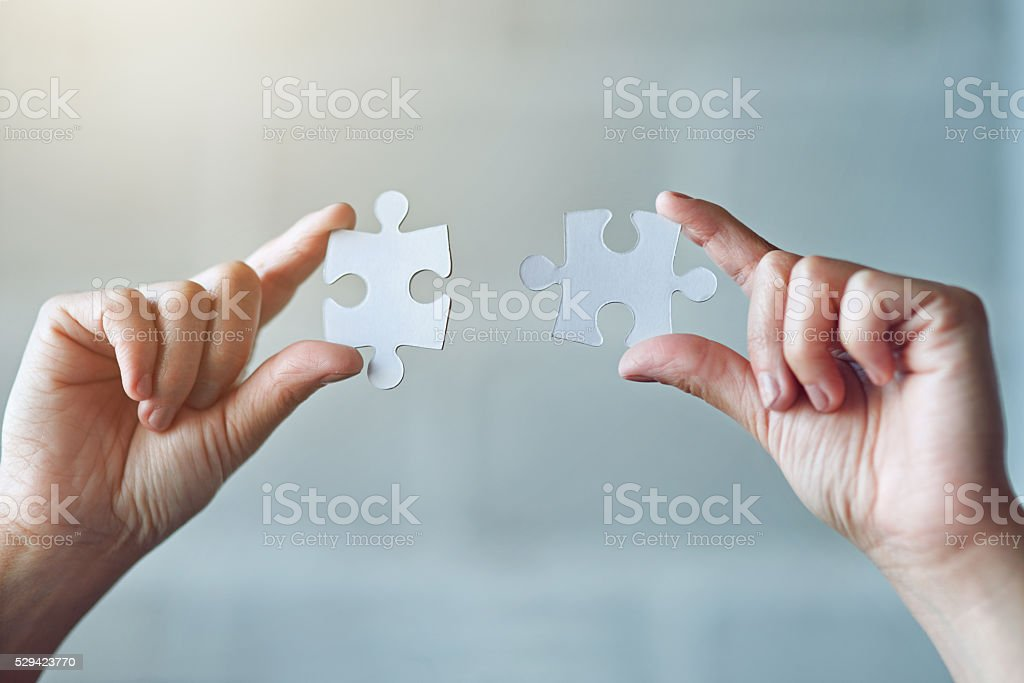 All the pieces are coming together stock photo