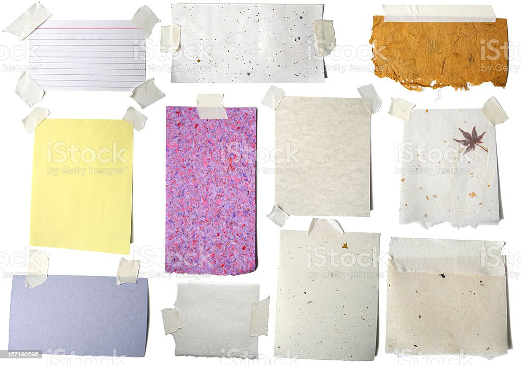 All the Pretty Papers: Blank with tape stock photo