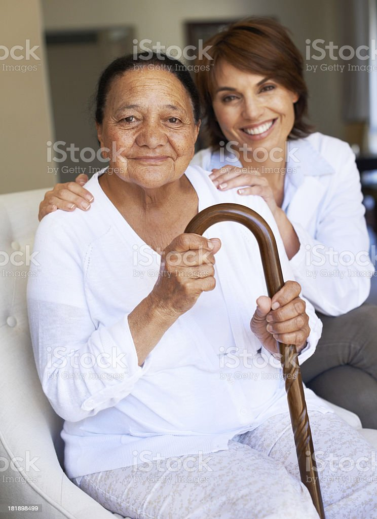 All the support she needs stock photo