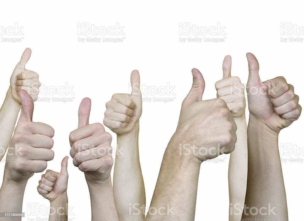 All thumbs up (path) royalty-free stock photo