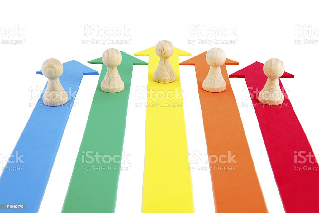 all together in one direction royalty-free stock photo