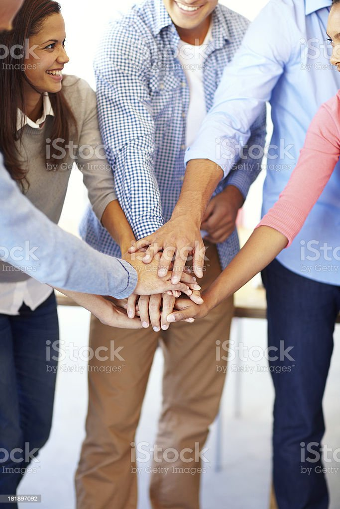 All together now royalty-free stock photo