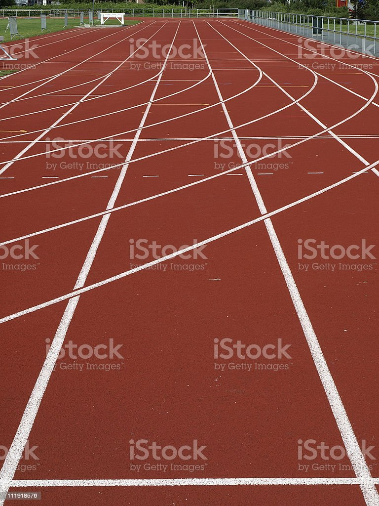 All weather running track royalty-free stock photo