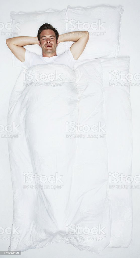 All wrapped up and ready for bed royalty-free stock photo