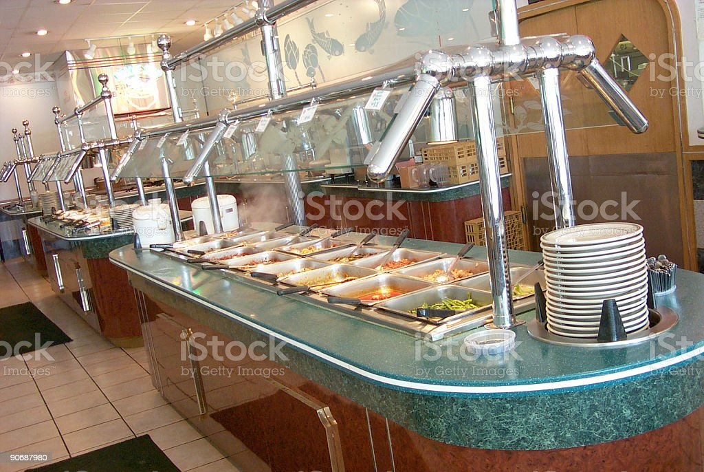 All You Can Eat Chinese buffet table royalty-free stock photo