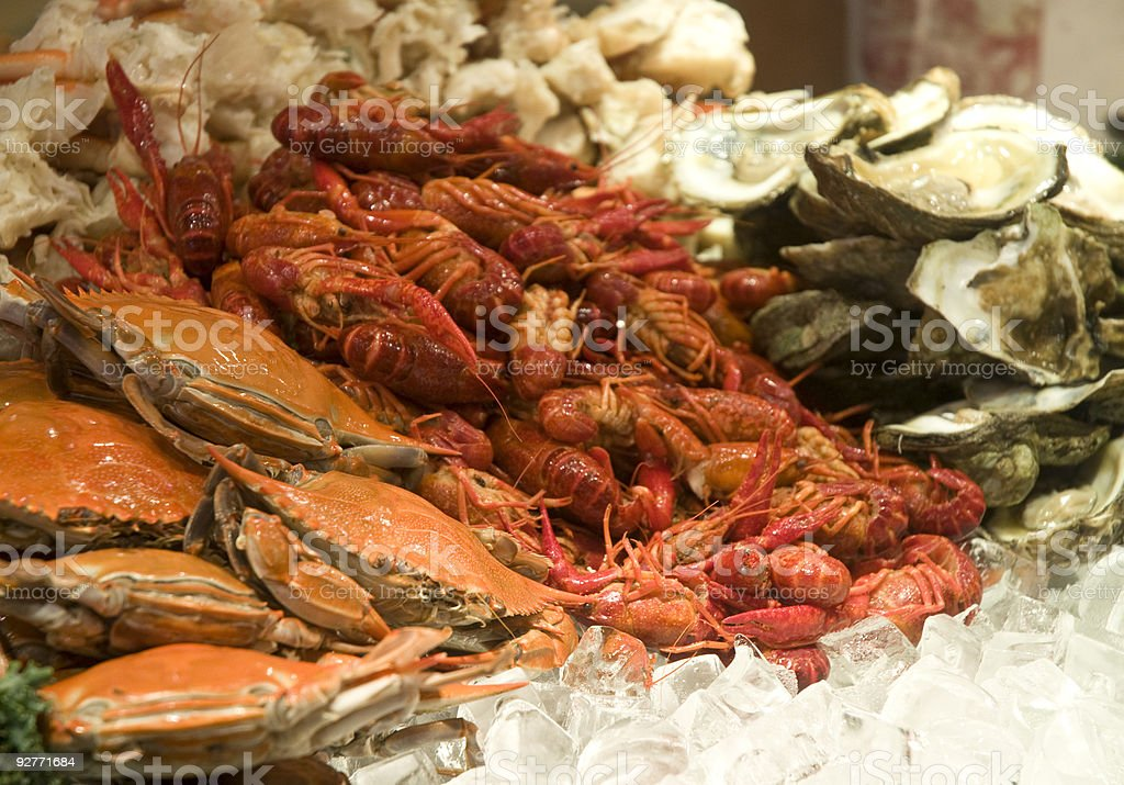 All You Can Eat Seafood Buffet royalty-free stock photo