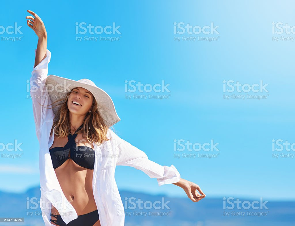 All you need is a good dose of vitamin sea stock photo