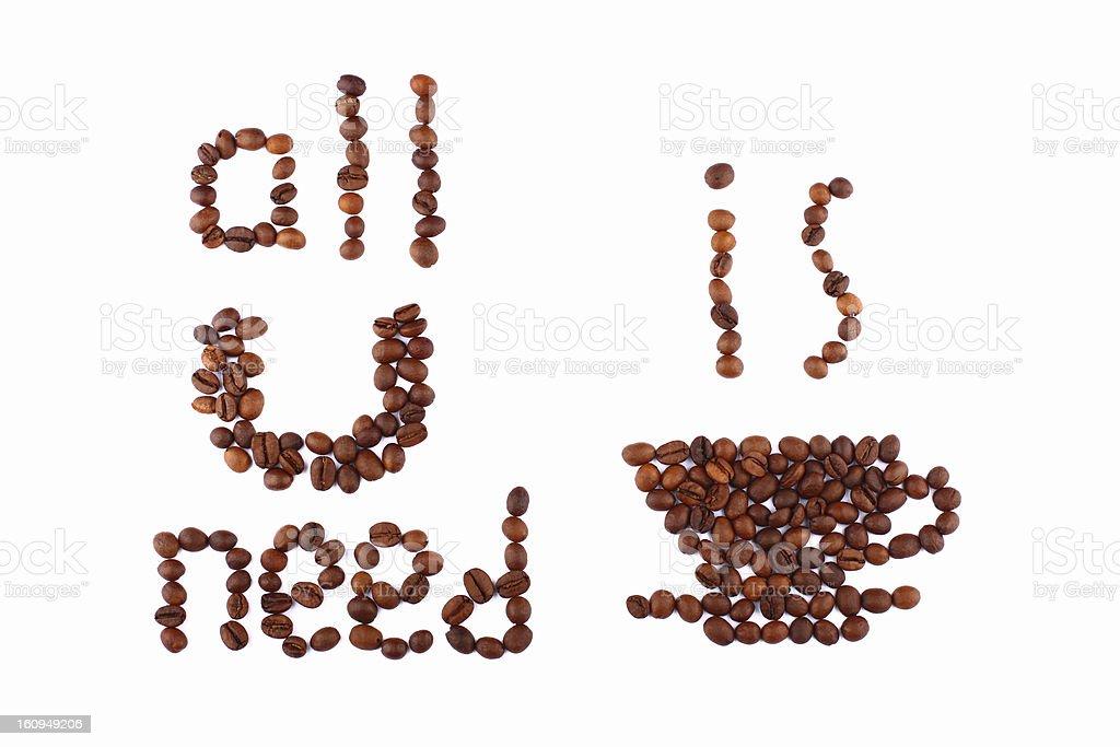 必要なのは、コーヒー ロイヤリティフリーストックフォト