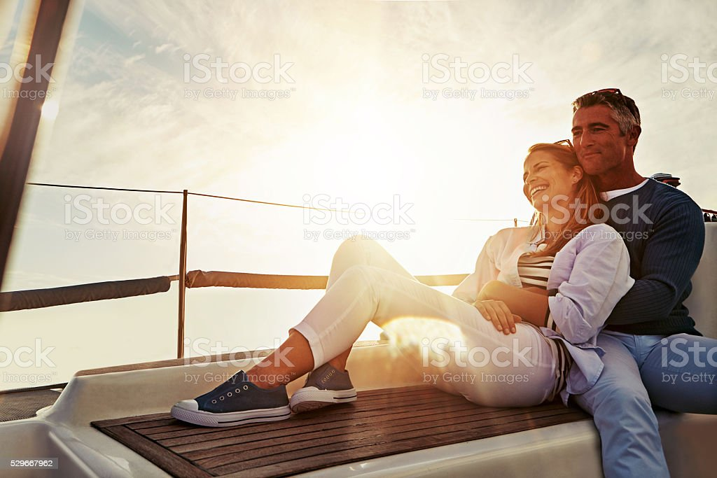 All you need is love..and a boat stock photo