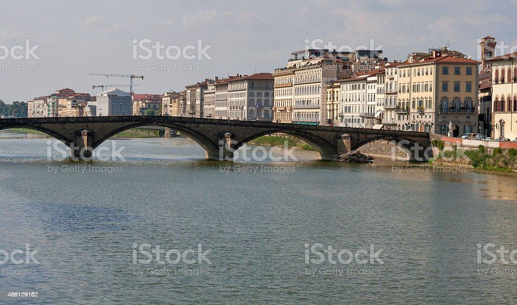 Alla Carraia bridge in Florence stock photo