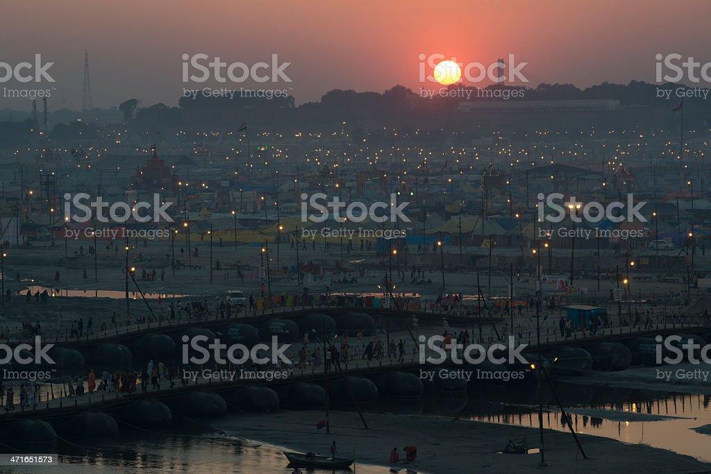 Allahabad sunset background stock photo