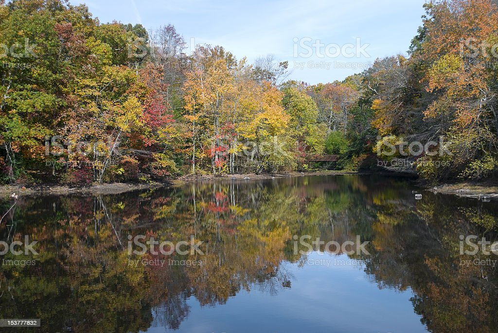 Allaire Autumn Reflections stock photo