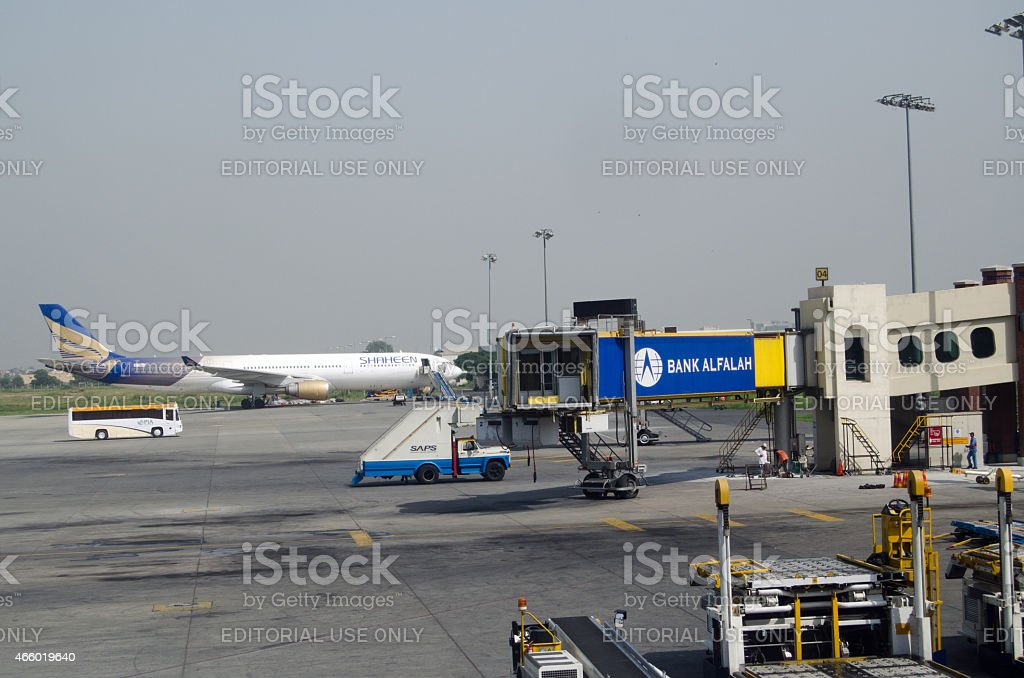 Allama Iqbal Airport, Lahore stock photo