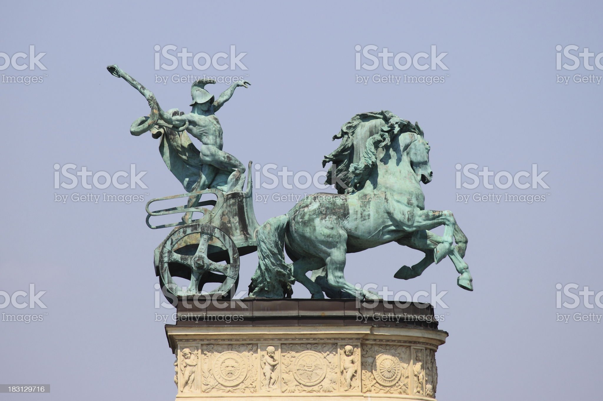 Allegorical statue of War royalty-free stock photo