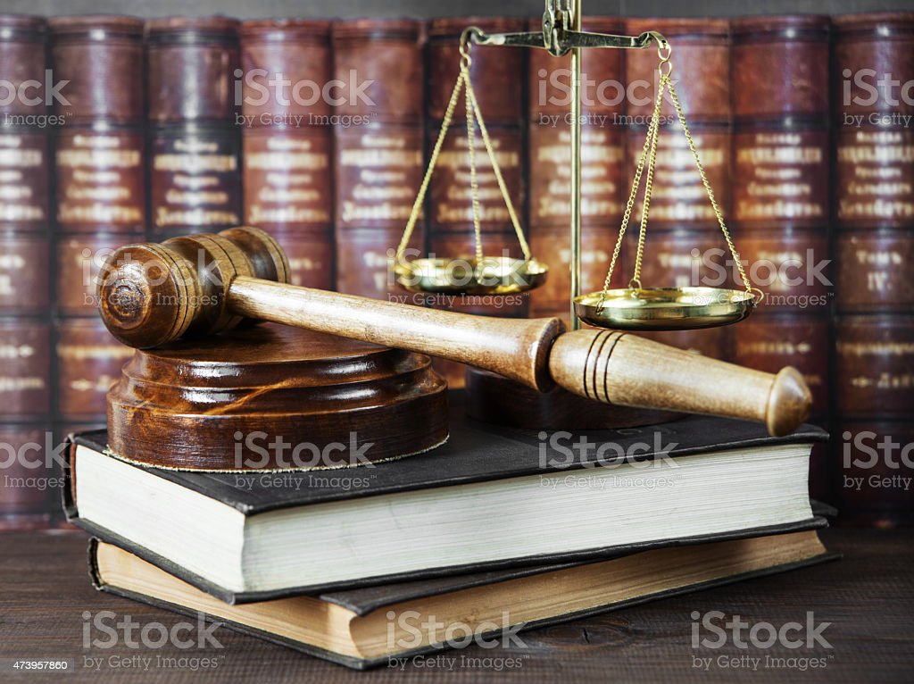 Allegory of  justice stock photo