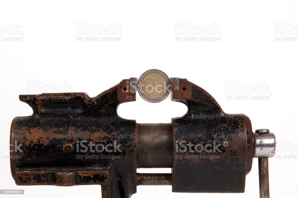 Allegory of the global financial crisis stock photo
