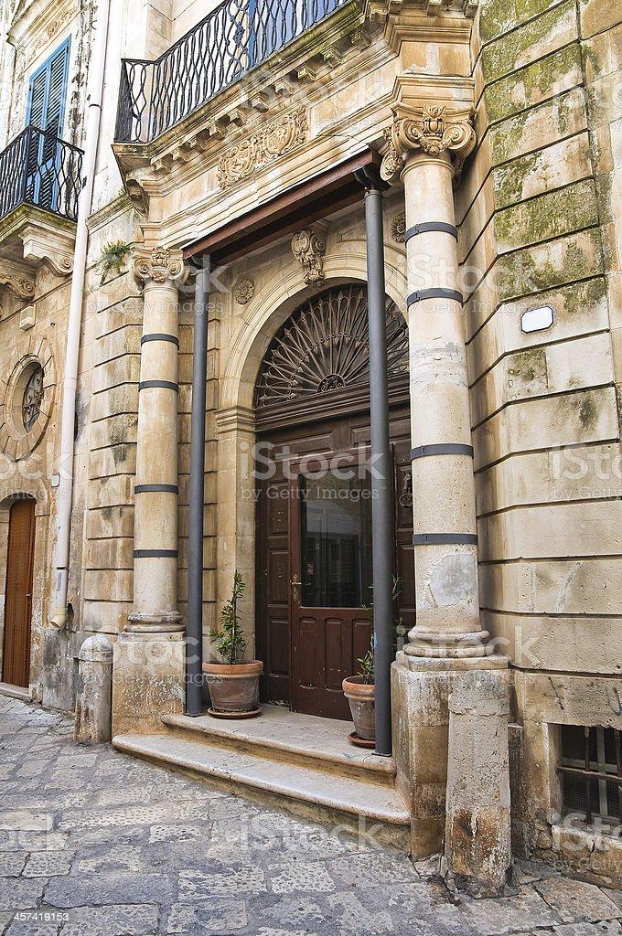 Allegretti palace. Ceglie Messapica. Puglia. Italy. stock photo