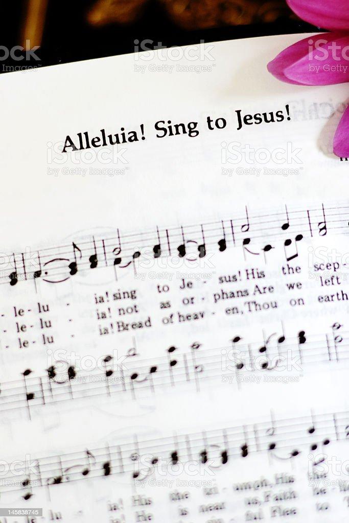 Alleluia, sing to Jesus stock photo